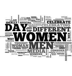 Women s day should it be celebrated text word vector