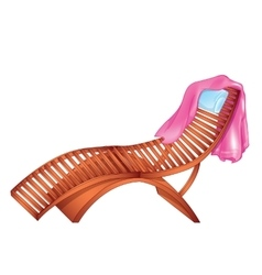 Wooden Chaise Lounge vector