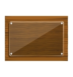 Wooden panel concept vector image