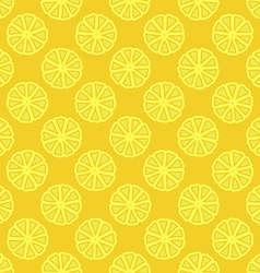 yellow lemon seamless pattern vector image