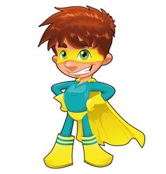 Young superhero vector image