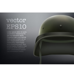 Background of Military green helmet vector image vector image