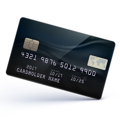 black credit card vector image vector image
