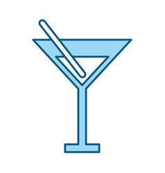 blue cocktail cartoon vector image