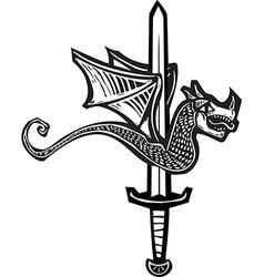 Dragon Sword Up vector image vector image