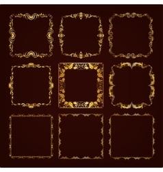Set of decorative hand drawn frame vector image