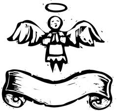 Tiny angel banner vector