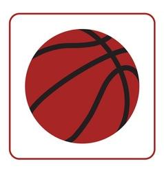 basketball ball 1 vector image