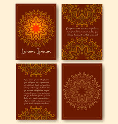 Brochure flyers template with eastern motifs and vector image vector image
