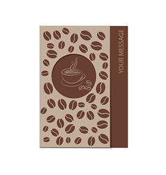 coffee card 1501 02 vector image vector image