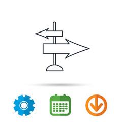 direction arrows icon destination way sign vector image