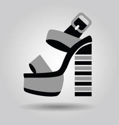 single women platform high heel shoe with striped vector image vector image