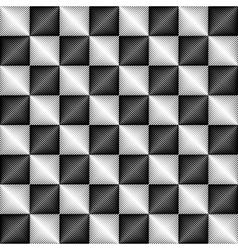 Metallic seamless geometric pattern vector image vector image