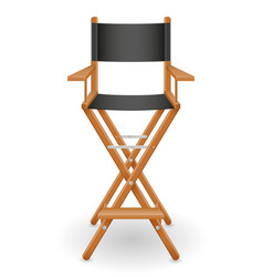 Director cinema chair stock vector