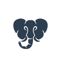 Elephant logo on white background - stock vector image