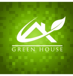 Green House Roof Icon vector image vector image