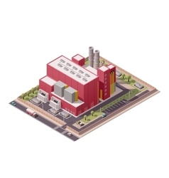 isometric factory buildings icon vector image vector image