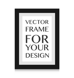 Picture frame design for image or text vector