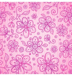 Pink lacy vintage flowers seamless pattern vector image vector image