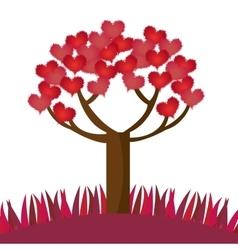 Romantic tree hearts lovely design vector