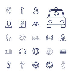 22 support icons vector