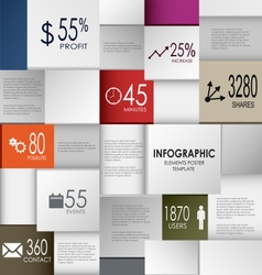 Abstract info graphic square element poster vector image