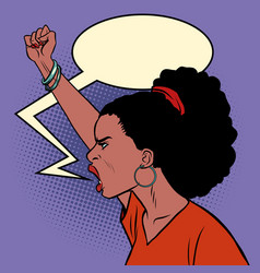 african woman protest vector image