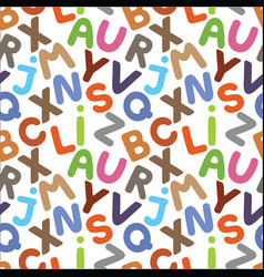 alphabet seamless pattern vector image