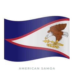 american samoa waving flag icon vector image