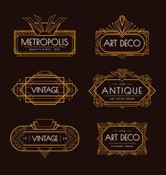 Art deco labels set vector