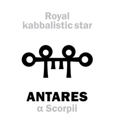 Astrology antares the royal behenian kabbalistic vector