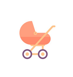 baby stroller icon on white vector image