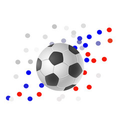 Ball for football on abstract background vector