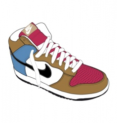 Basket ball boots vector