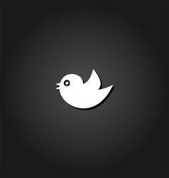 bird icon flat vector image