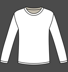Blank long-sleeved T-shirt template vector image