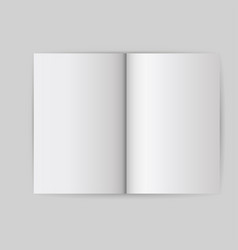 book white blank template object open cover mock vector image