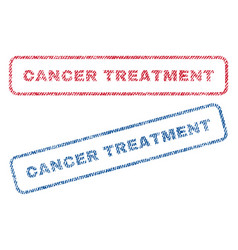 cancer treatment textile stamps vector image vector image