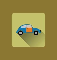 Cartoon car flat icon vector image