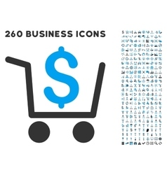 Checkout Icon with Flat Set vector