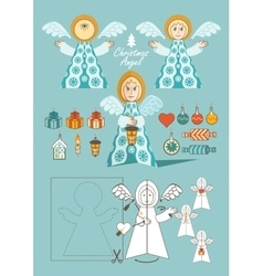 Christmas Angel toy vector