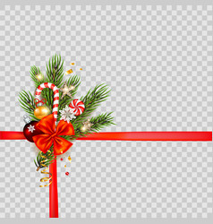 christmas holiday template vector image