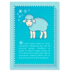 Christmas layered blue card vector image