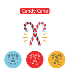 christmas sweet candy cane vector image