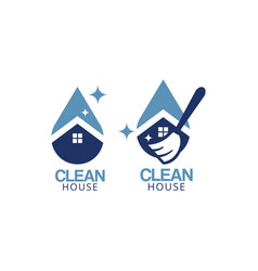 clean house logo icon graphic design template vector image