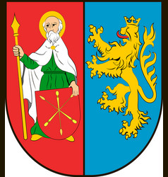 coat of arms of zamosc county in lublin vector image