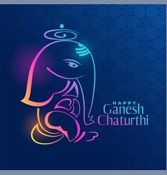 Creative ganpati design on blue background vector