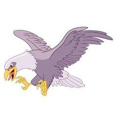 dangerous cartoon eagle vector image