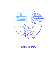 Diplomatic mission concept icon vector