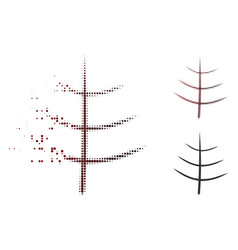 dissolving dot halftone bare tree icon vector image